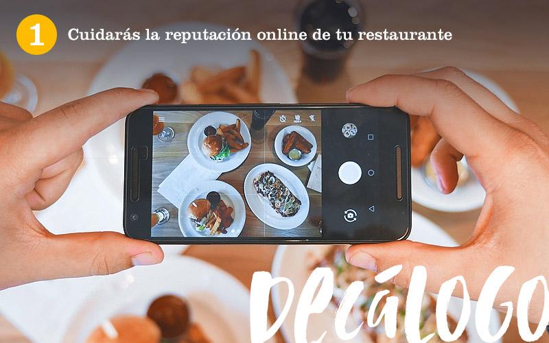 1. Cuidarás la reputación online del restaurante
