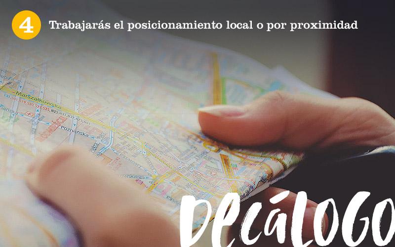 4. Trabajarás el posicionamiento local o por proximidad