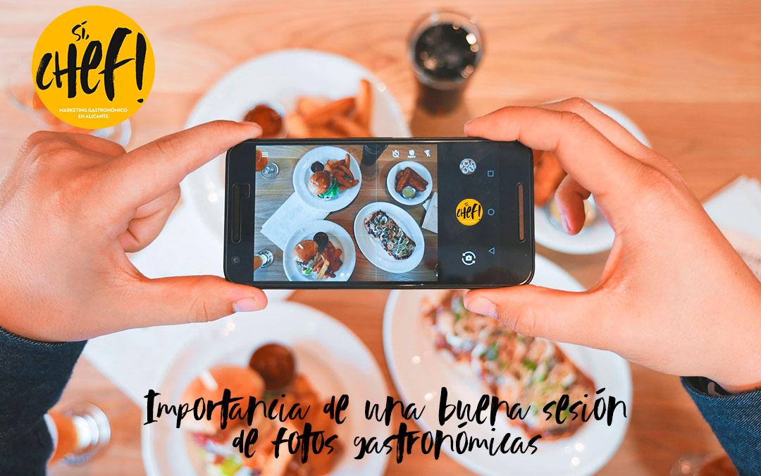 Importancia de una buena sesión de fotos gastronómicas.